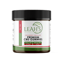 Load image into Gallery viewer, Strawberry Lemonade - Premium CBD Gummies - Leah's Organic Garden - product pic - png