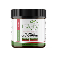 Premium CBD Gummies - Leah's Organic Garden - 10mg - Strawberry Lemonade flavor - THC-Free - product pic - png