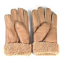 Sheepskin Gloves - Chestnut Leather