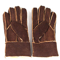 Sheepskin Gloves - Chocolate