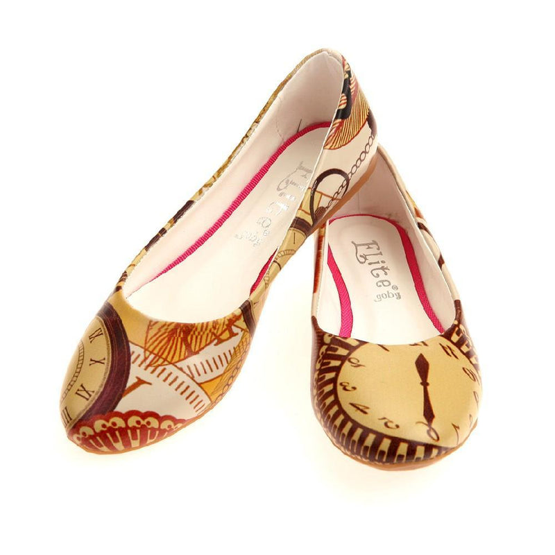 Retro Clock Ballerinas Shoes 1011
