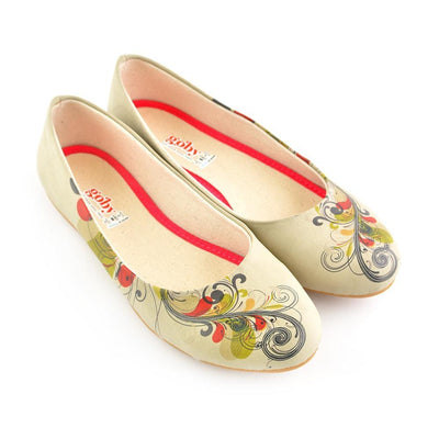 Spiral Flower Ballerinas Shoes 1056