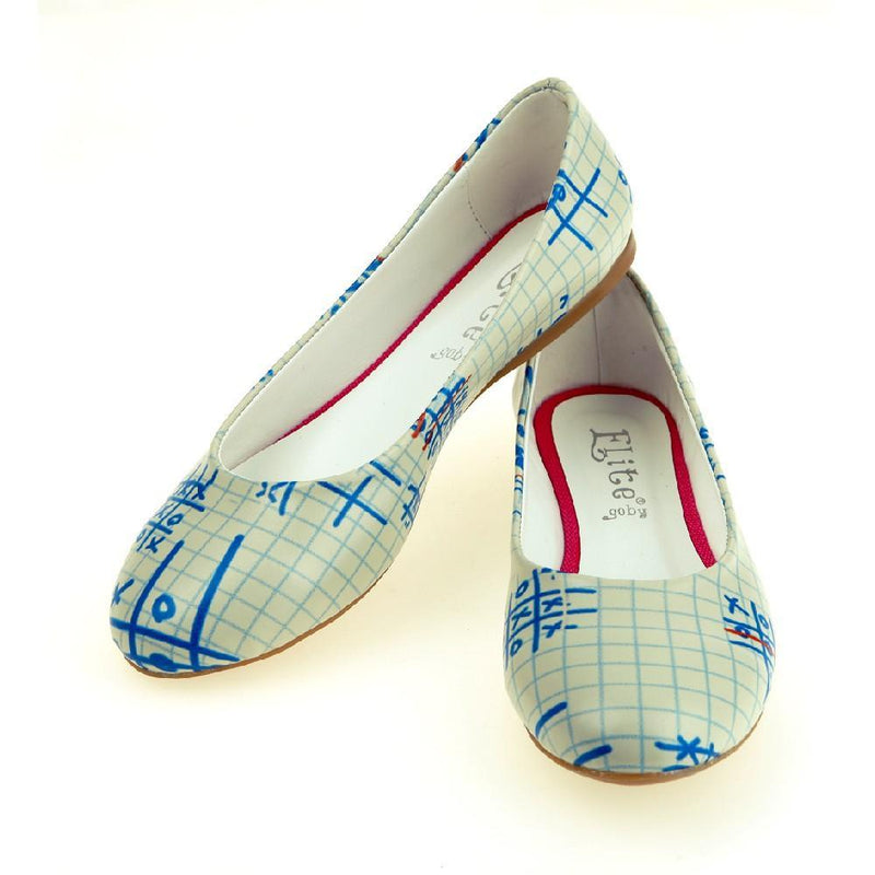 Blue OXO Ballerinas Shoes 1064