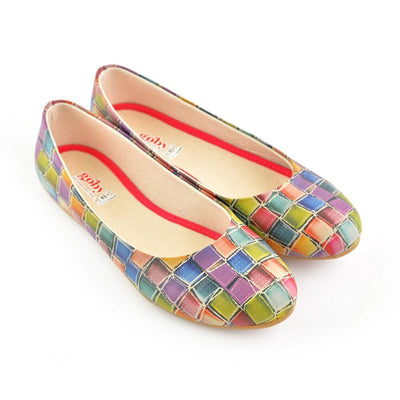 Colored Stones Ballerinas Shoes 1071