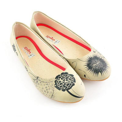 Black Flowers Ballerinas Shoes 1080