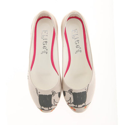 Cute Dog Ballerinas Shoes 1114