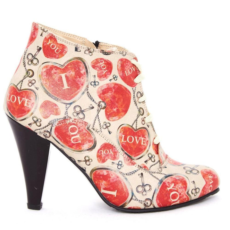 Hearts Ankle Boots BT303