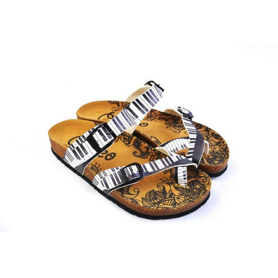 Black & White Piano Keys Sandal CAL1010