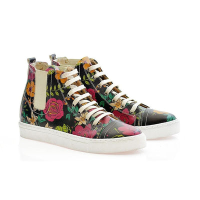 Flowers Short Boots CON101