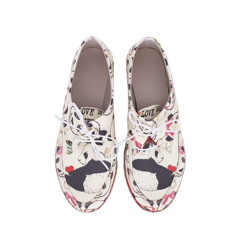 Cute Panda Slip on Sneakers Shoes HSB1688