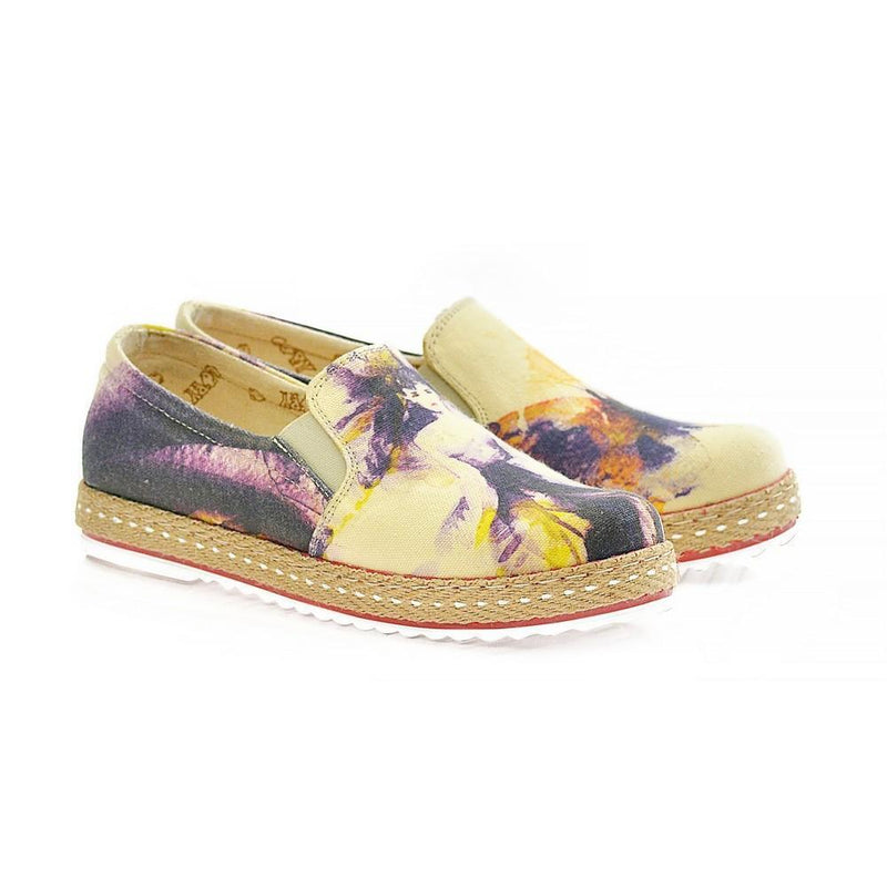 Woman and Butterfly Slip on Sneakers Shoes HV1567
