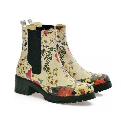 Flowers Short Boots LAS104