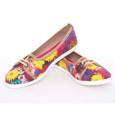 Flowers Slip on Sneakers Shoes LCS3001
