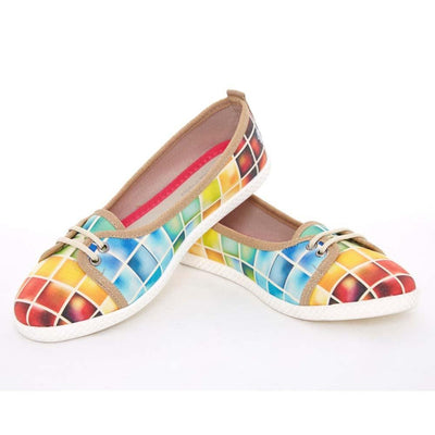 Colored Squares Slip on Sneakers Shoes LCS3003
