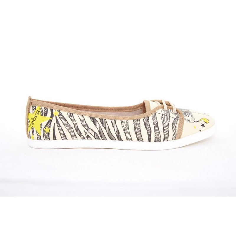 Zebra Style Slip on Sneakers Shoes LCS3005