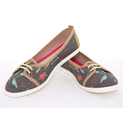 Birds and Stars Slip on Sneakers Shoes LCS3007