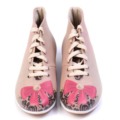 Pink Ribbon Short Boots LND1128