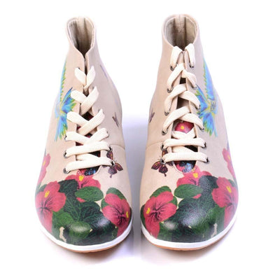Flowers Short Boots LND1133