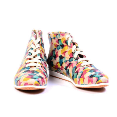Colorful Pattern Short Boots LND1139