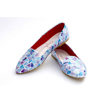 Colored Glass Fragments Ballerinas Shoes NBL215