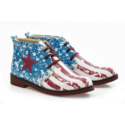 Flag Ankle Boots NHP107