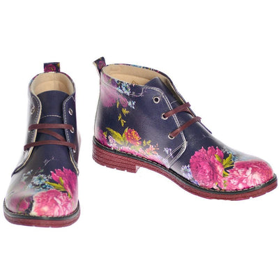 Flowers Ankle Boots NHP108