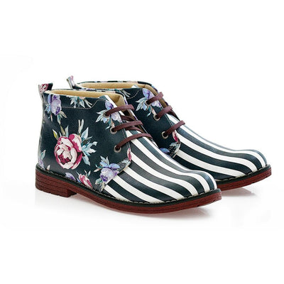 Flowers Ankle Boots NHP111