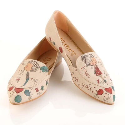 I Love You Ballerinas Shoes OMR7206