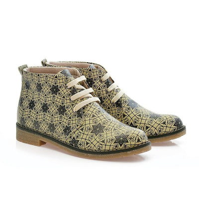 Pattern Ankle Boots PH208