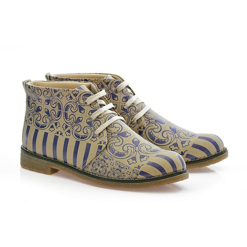 Pattern Ankle Boots PH213