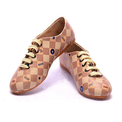 Retro Squares Ballerinas Shoes SLV014