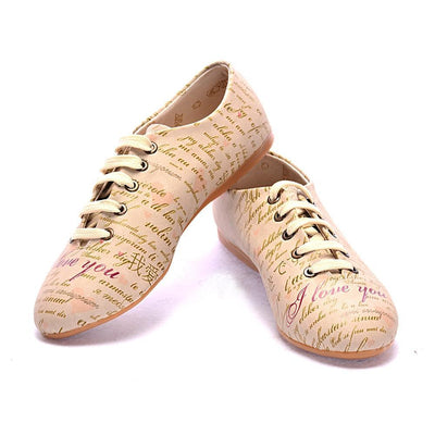 I Love You Ballerinas Shoes SLV002