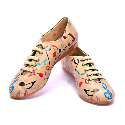 Music Notes Ballerinas Shoes SLV006