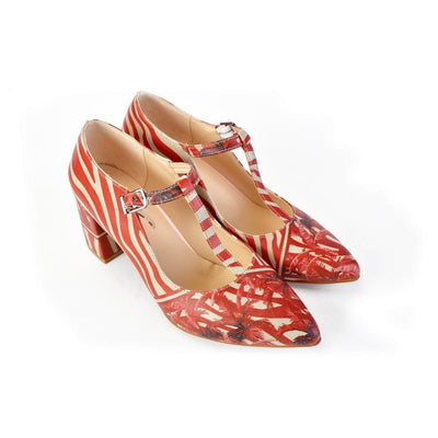 Tropical Red Heel Shoes STK301