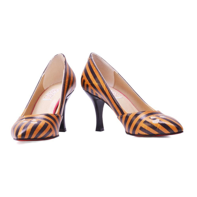 Striped Heel Shoes STL3003