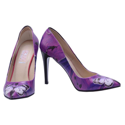 Purple Butterfly Heel Shoes STL4402
