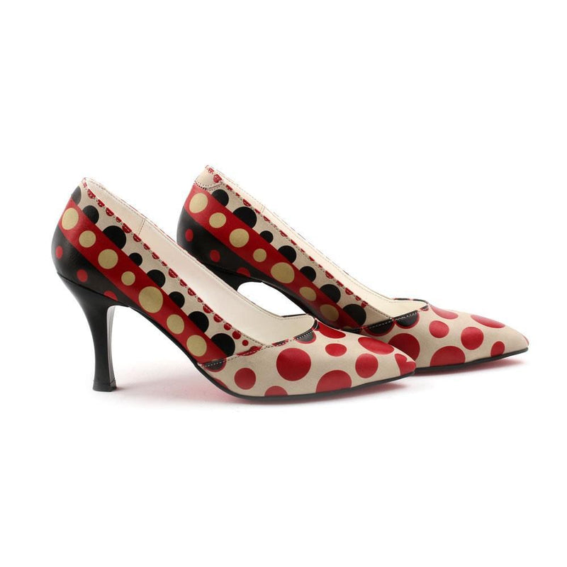 Dots Heel Shoes STL3001