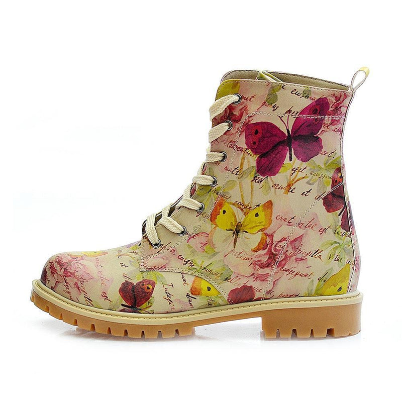Flowers and Butterfly Long Boots TMB1016
