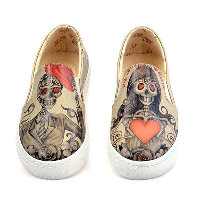 Death is not End of Love Slip on Sneakers Shoes VN4034
