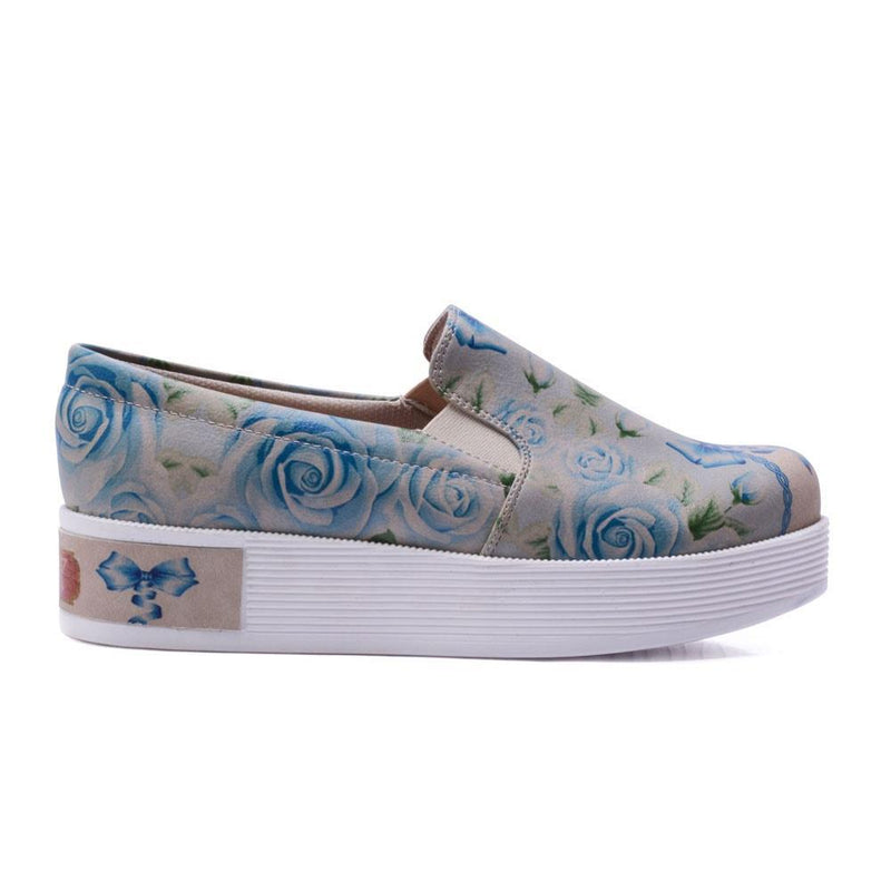 Flowers Slip on Sneakers Shoes VN4217