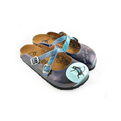 "Blue ""I Love You To The Moon & Back Clogs WCAL138"