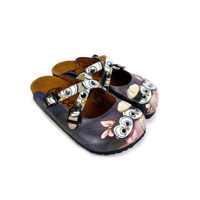 Black Cute Penguins Patterned Clogs - WCAL175