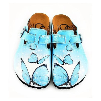 Blue Butterfly Clogs - WCAL340