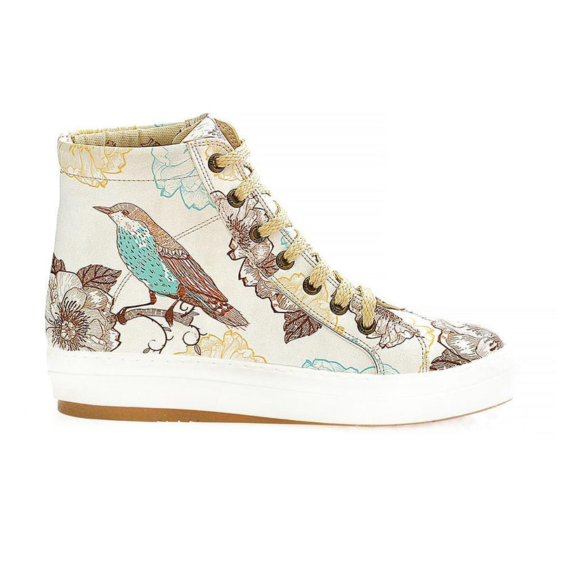 Flowers and Bird Sneaker Boots WCV2026
