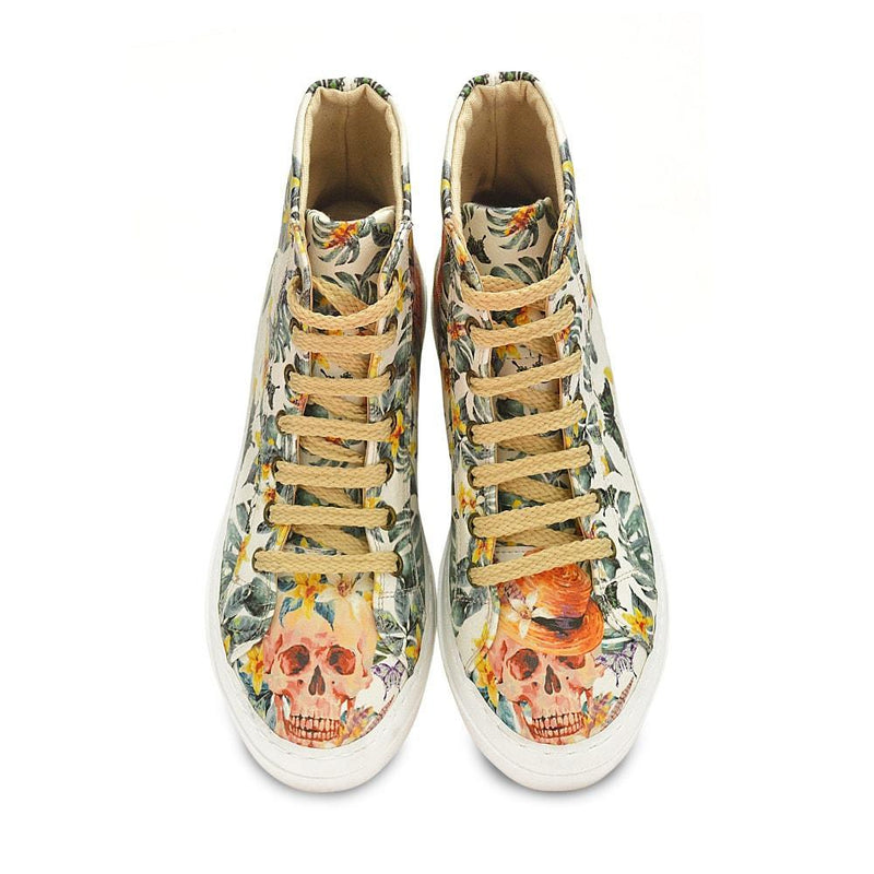 Skull and Flowers Sneaker Boots WCV2031