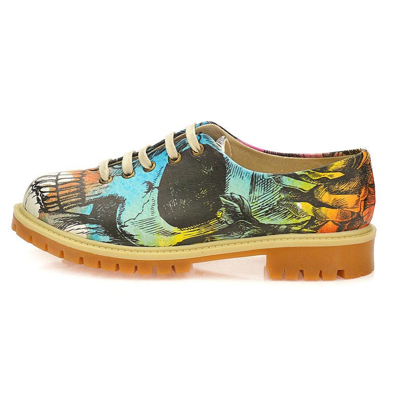 Colored Skull Oxford Shoes WTMK6515