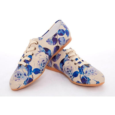 Blue Roses Ballerinas Shoes SLV063