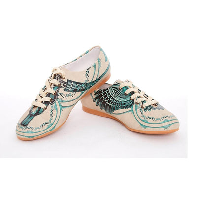 Blue Pattern Ballerinas Shoes SLV069