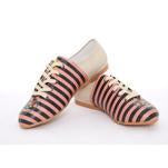 Colored Striped Ballerinas Shoes SLV072