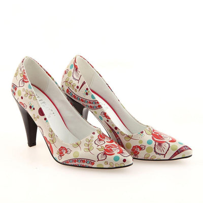 Flowers Heel Shoes STL4004
